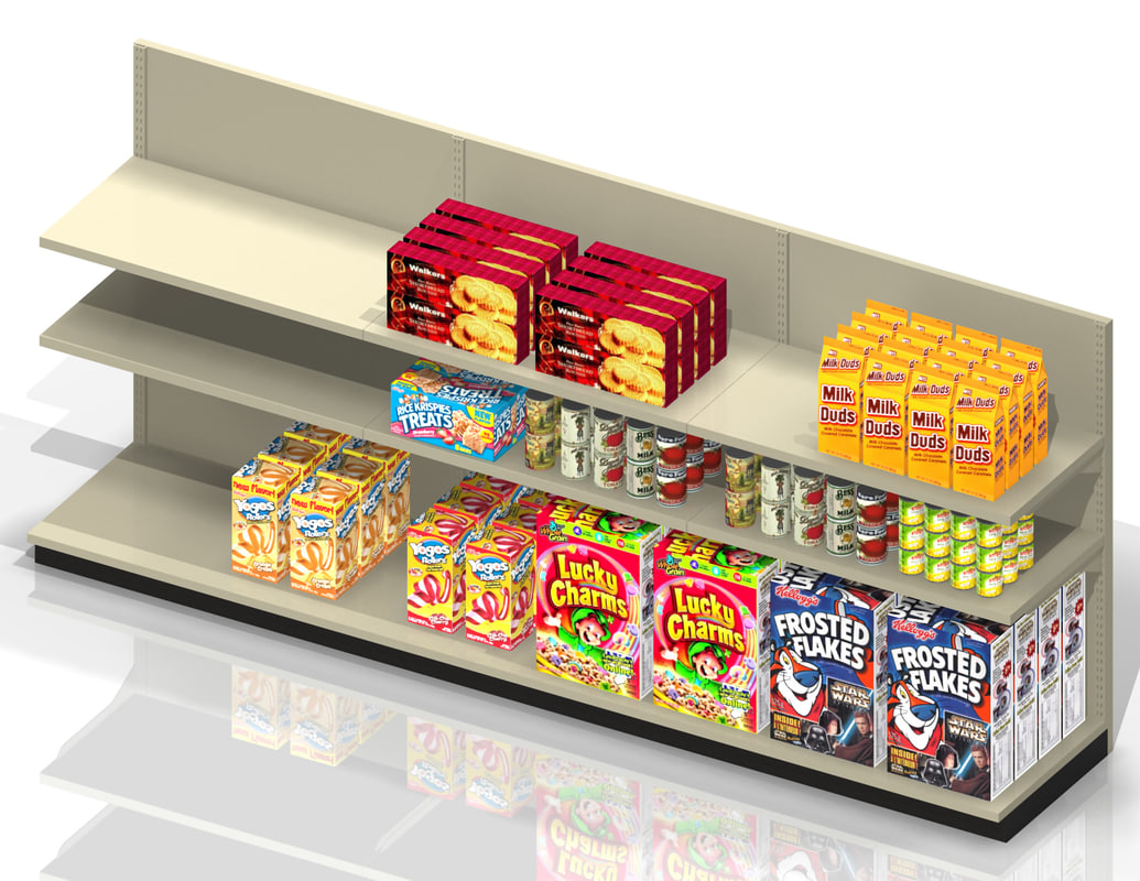 c-store shelf product 3d model