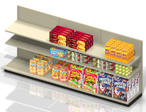 c-store shelf product 3d model