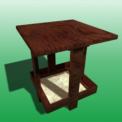 free lo table 3d model