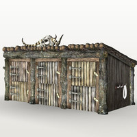 barn stables 3d max