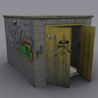 maya utility structure vandalised