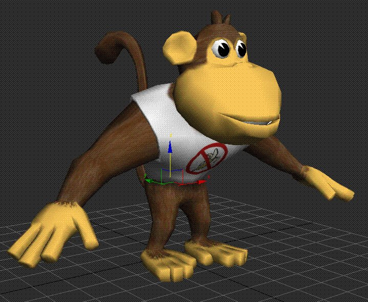 3d monkey toon model