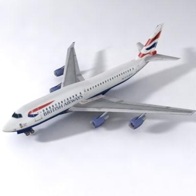 b 747 3d obj