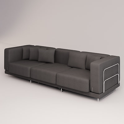 tylosand sofa triple 3d model