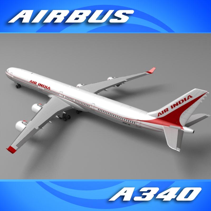 a340-600 air india a340 obj