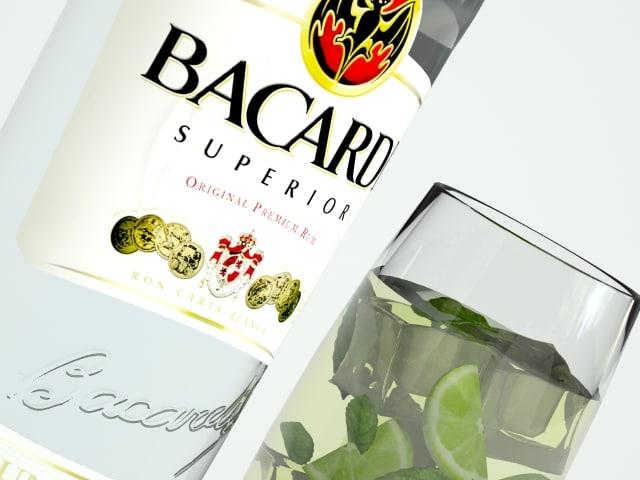 bacardi mojito 3d model