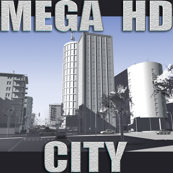 city -white- hd buildings 3d 3ds