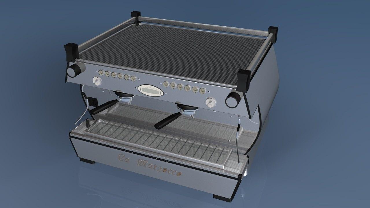 3d lamarzocco espresso machine