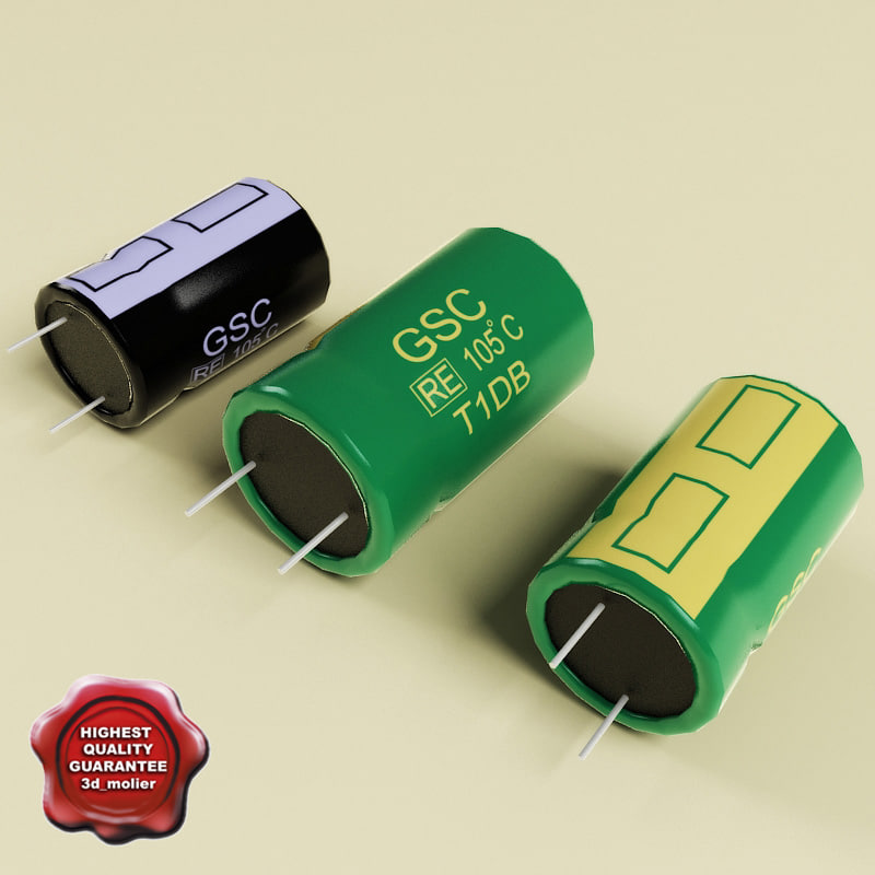 3ds max capacitors modelled