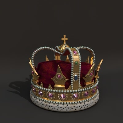 3d model king crown