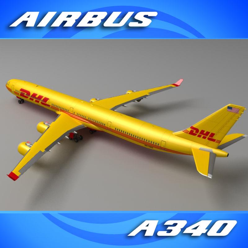 a340-600 dhl a340 3ds