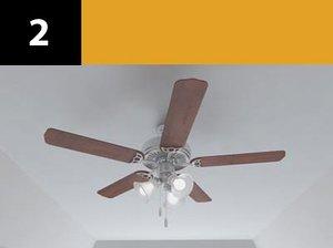 3d ceiling fan 2 model