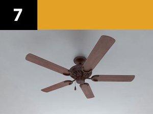 ceiling fan 7 3d model