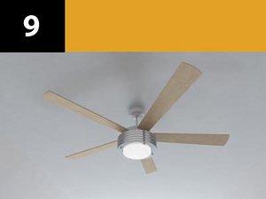 ceiling fan 9 3d model