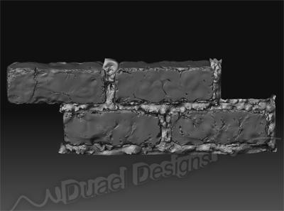 3d model bricks cement