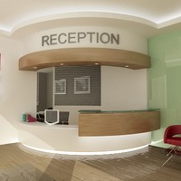 3d model reception office