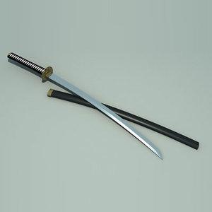 samurai sword 3d ma