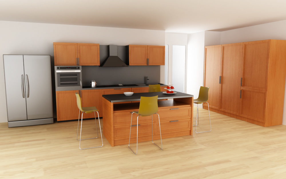 3d kitchen set 02 model