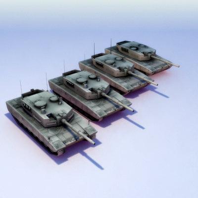 leopard2a4 lods leopard tank 3d model