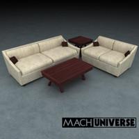 sofa table living room 3d lwo