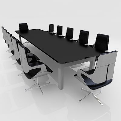 3d model meeting conference room furniture