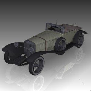 3d model 1928 mercedes