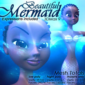 mermaid expressions included 3d model