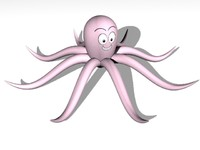 3d octopus toon