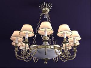 chandelier riperlamp minerva 274b 3d model