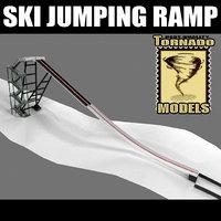 3d ski jumping ramp