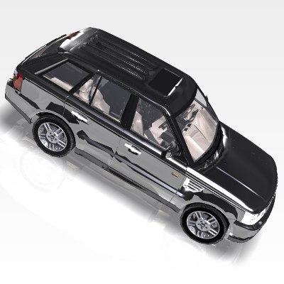 3ds max car range rover luxury