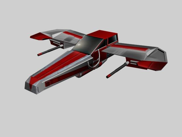 spaceship space fighter 1 3d model