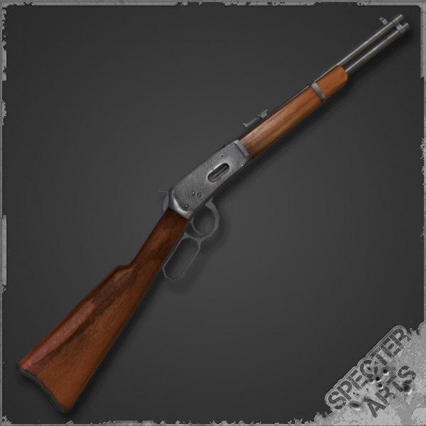 lever action carbine 1894 3d model
