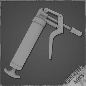 grease gun 3d model