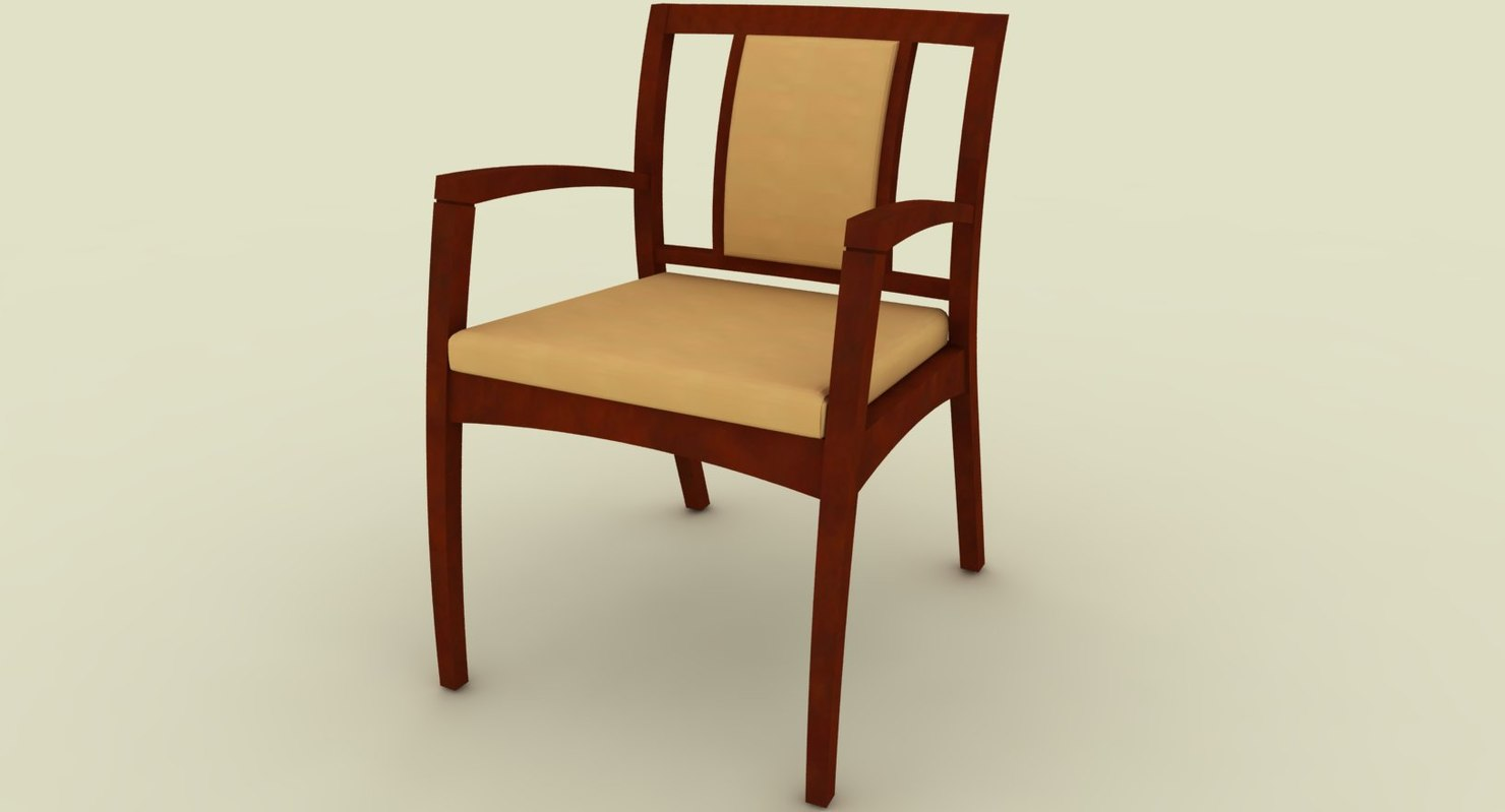 chair leather cushioning 3d 3ds
