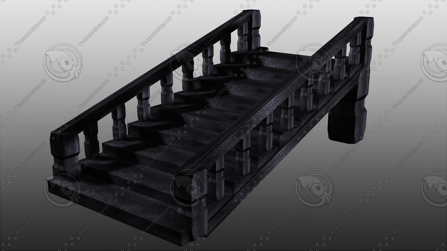 3d obj stairs