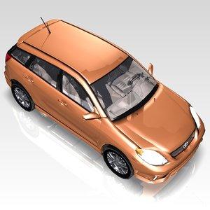 car toyota matrix sports 3d c4d