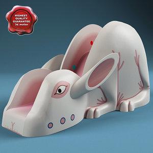water slide v3 rabbit 3d model