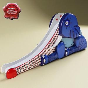 water slide v6 elephant 3d model