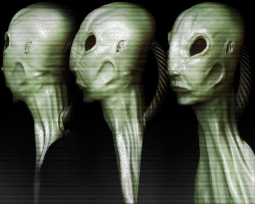 obj alien head
