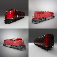 3d emd sd60m locomotive model