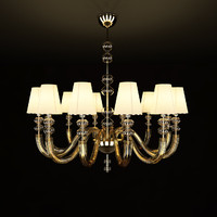 12 lamps chandelier 3d model