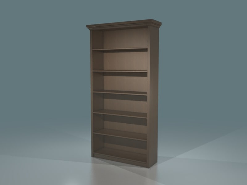 3d wood bookcase