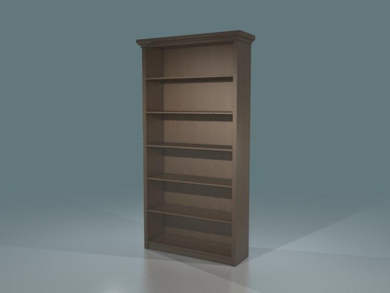 standard bookshelf 3d blend