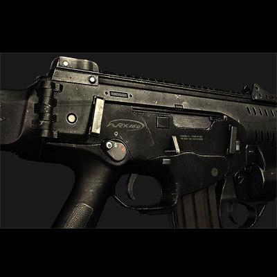 assault beretta arx-160 3d model