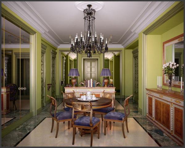 3ds max livingroom jumbo classic