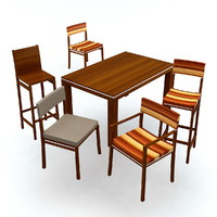 3d 3ds chair table