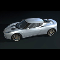 3ds max luxury sports car evora