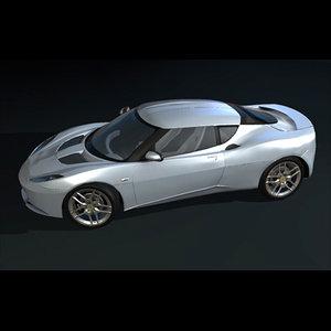 3ds max luxury sports car evora