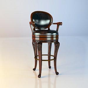 3d model howard bar stool